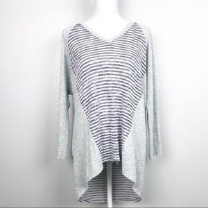 PAPERMOON {L} Stitch Fix Gray Stripe Tunic